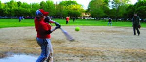 Game of softball