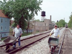 Cleaning up railroad tracks